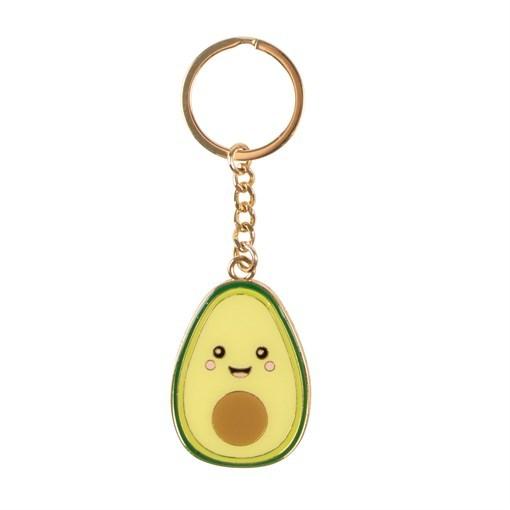 Happy Avocado Enamel Keyring image
