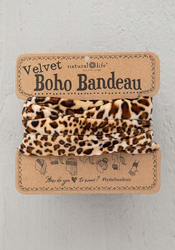 Natural Life: Velvet Bandeau - Brown Leopard