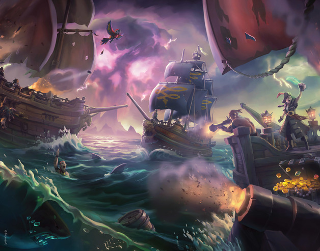 Sea of Thieves - Premium Art Print - Battles at Sea