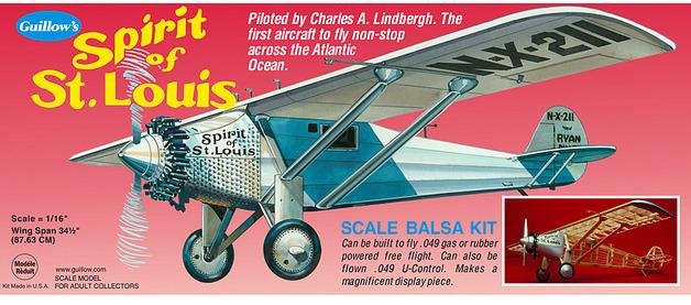 Spirit of St. Louis 1:16 Balsa Model Kit