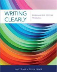 Writing Clearly by Ellen Lange