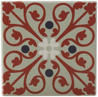 Maxwell & Williams Medina Ceramic Square Tile Coaster - Sefrou (9cm)