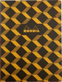 Heritage B5 Raw Bound Notebook Lined - Escher Black