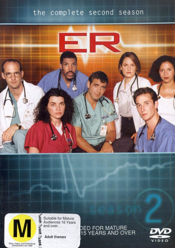 E.R. - The Complete 2nd Season (4 Disc Set) on DVD image