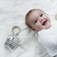 Wee Gallery: Organic Cotton Rattle - Bear image