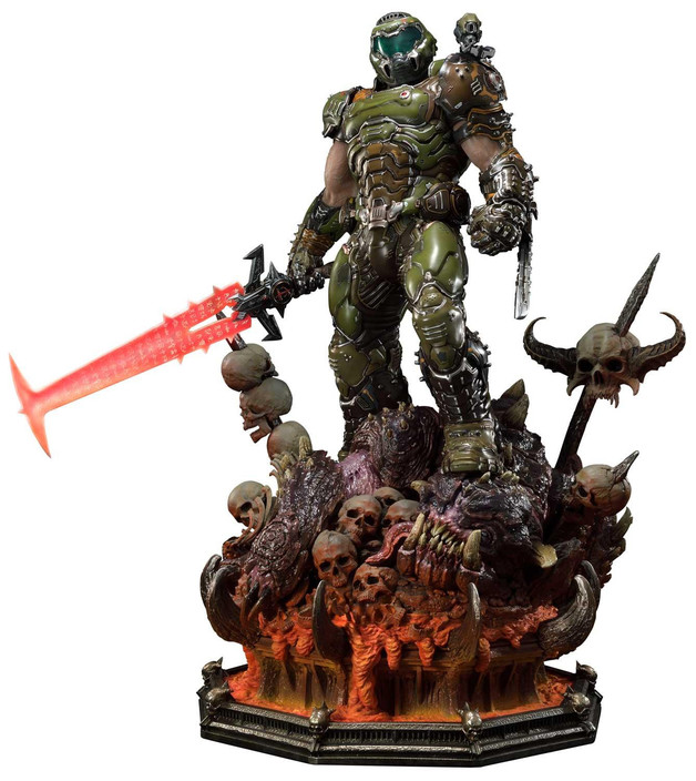 """Doom: Eternal - Doom Slayer [Deluxe] - 43"""" Premium Statue"""