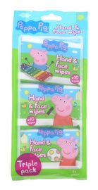 Peppa Pig Hand & Face Wipes 10's 3 Pack