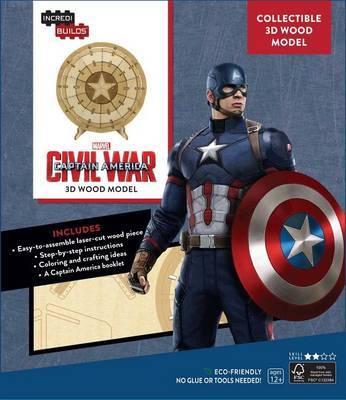 Incredibuilds: Marvel's Captain America: Civil War 3D Wood Model by Rick Barba image