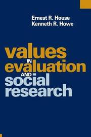 Values in Evaluation and Social Research by Ernest R. House image
