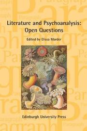 Literature and Psychoanalysis: Open Questions by Elissa Marder image