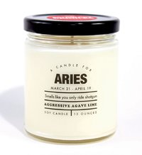 Whiskey River Co: Astrology Candle - Aries