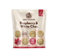 Mrs Higgins Raspberry White Choc Multipack 10pk