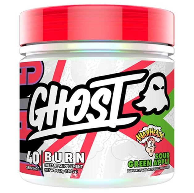 Ghost: Burn Fat Burner - Warheads Sour Green Apple (40 Serve)