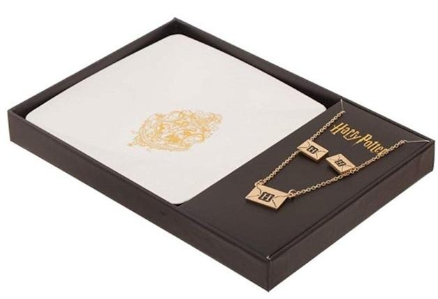 Harry Potter: Hogwarts Crest - Jewellery & Tray Set