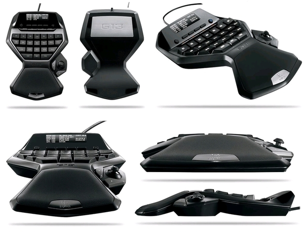 Logitech G13 Gameboard, 25 Programmable Keys, LCD Panel | at Mighty