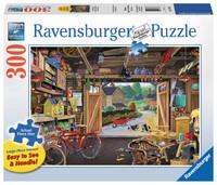 Ravensburger – Grandpa's Garage Lge Form Puz 300pc