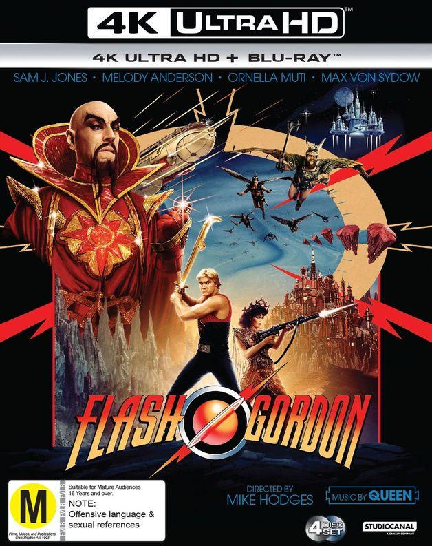 Flash Gordon Box Set (4K UHD + Blu-ray) on Blu-ray, UHD Blu-ray