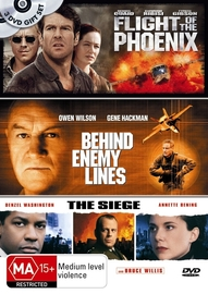 Flight Of The Phoenix / Behind Enemy Lines / Siege (3 Disc Set) on DVD image