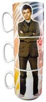 Doctor Who 10th & 11th Doctor Stacked Mug Set