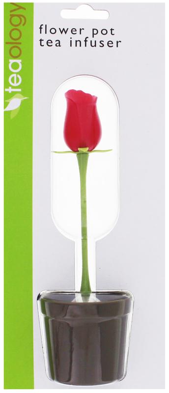 Flower Pot Tea Infuser Rose