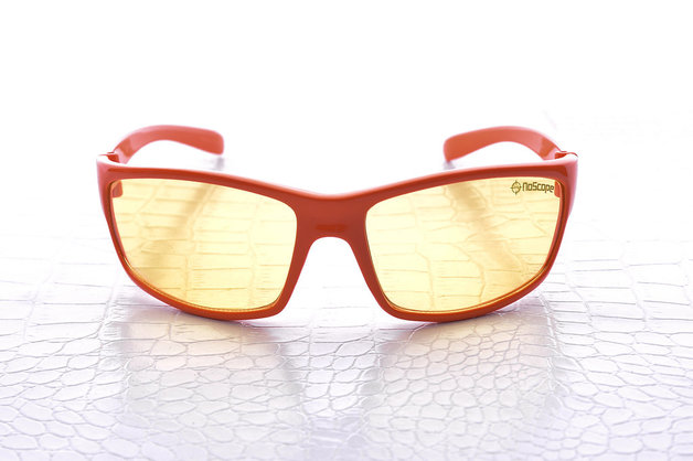 NoScope Minotaur Computer Gaming Glasses - Hellfire Orange for PC Games