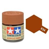 Tamiya Acrylic: Metallic Brown (X34)