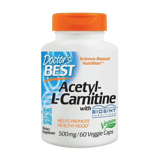 Doctor's Best Acetyl-L-Carnitine 500mg (60 Veggie Caps)