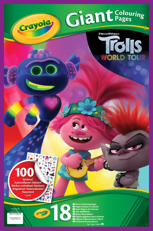 Crayola: Giant Colouring Pages - Trolls 2