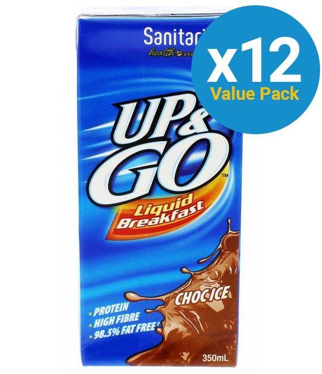 UP&GO Liquid Breakfast Choc Ice 350ml (12 Pack)