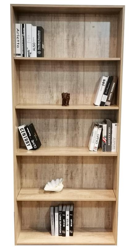 Bookcase 2025mm in Wood Grain Finish