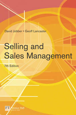 Selling and Sales Management by Geoff Lancaster image