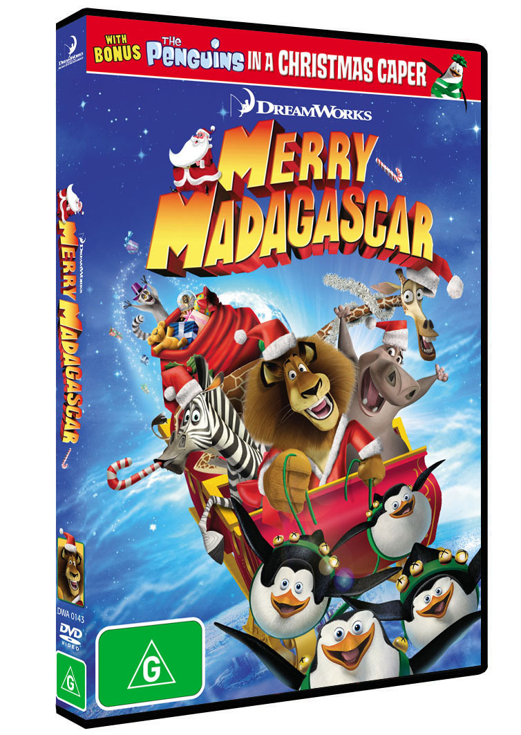 Merry Madagascar | DVD | On Sale Now | at Mighty Ape NZ