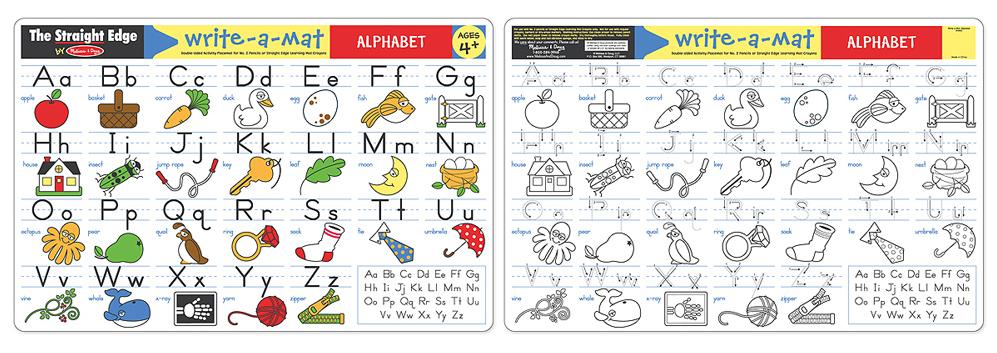 Melissa & Doug: Alphabet Write-a-Mat image