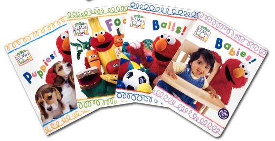 Sesame Street: Elmo's World First Flap-Book Library (4 Board Books) by Random House image