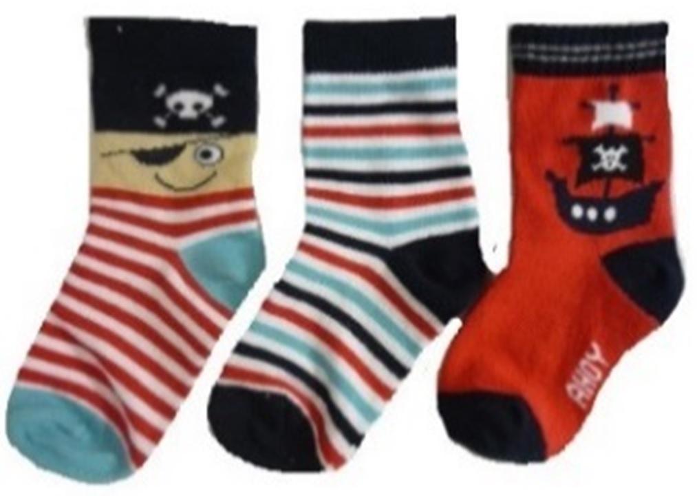 Hi-Hop Pirate Boys Socks (0-6 months) - 3 Pack