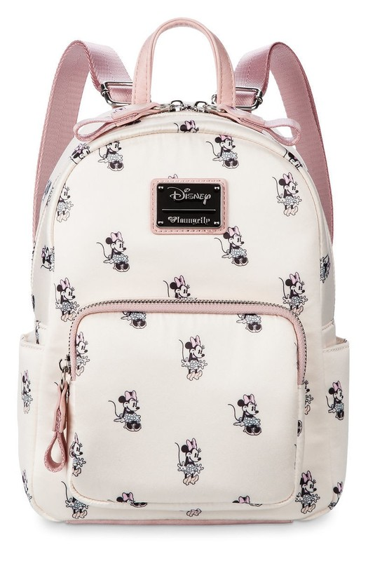 ca0668e47b4 Loungefly  Minnie Pastel Satin Mini Backpack