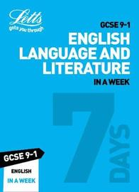 GCSE 9-1 English In a Week by Letts GCSE image