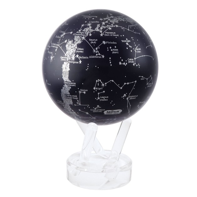 MOVA: Self Rotating Globe - Silver Constellation in Blue (11.5cm)