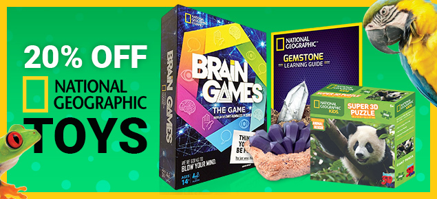 20% off National Geographic Toys!