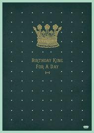 Mace & Mace: Birthday King Greeting Card