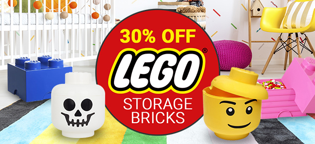 30% off LEGO Storage Bricks & More!