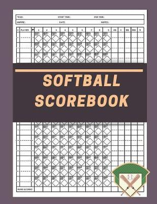 Softball Scorebook by David J Barnett Publishing