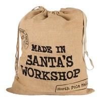 Made In Santa Workshop Jute Christmas Sack