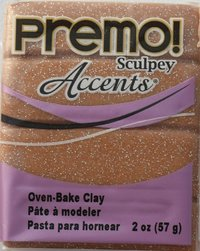 Sculpey Premo Accent Rose Gold Glitter (57g)
