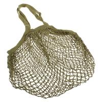 Cotton String Bag Long Handle - Avocado