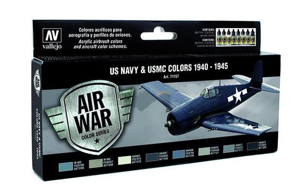 Vallejo US NAVY & USMC Colors WWII 1940-1945 Paint Set