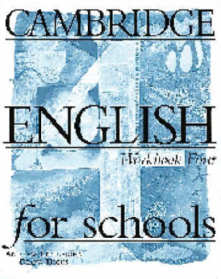 Cambridge English for Schools 4 Workbook by Andrew Littlejohn image