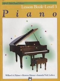 Alfred's Basic Piano Library Lesson Book, Bk 3 by Willard A Palmer