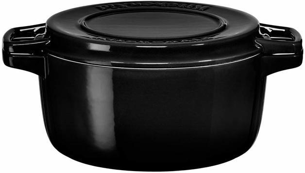 KitchenAid: Cast Iron Casserole Dish - Onyx Black (3.8L)