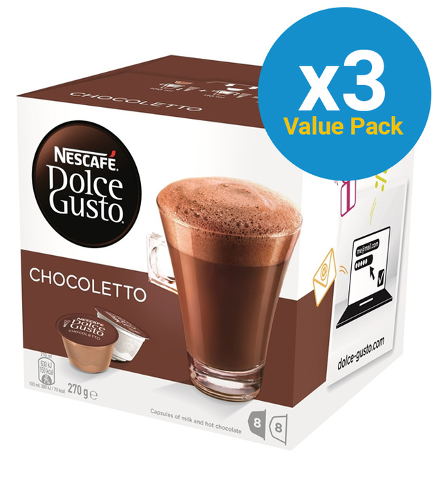 Nescafe: Dolce Gusto - Chocoletto Capsules (3 x 8-Pack)